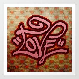 Love (Graffiti) Art Print