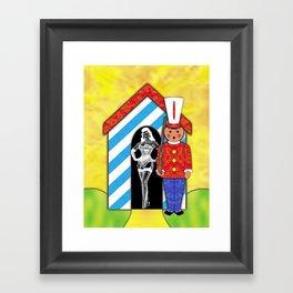 CHECKPOINT CHARLIE Framed Art Print