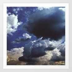 Clouds above Versailles Art Print