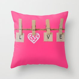 LOVE is the Word Throw Pillow