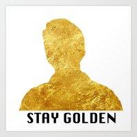 Stay Golden, Ponyboy Art Print