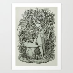 Lot on your mind. Art Print