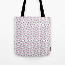 Geometrical neon pink turquoise modern chevron zigzag Tote Bag