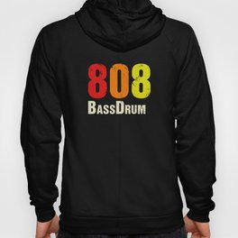 808 BassDrum Drum Machine Vintage Retro Hoody