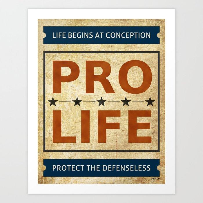Pro Life Billboard Art Print