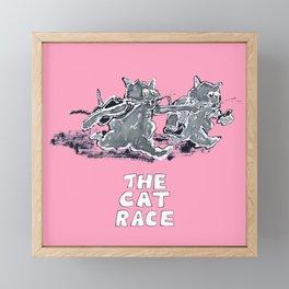 The Cat Race Framed Mini Art Print
