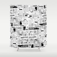 scandal Shower Curtains featuring Scandal Pattern by CLSNYC