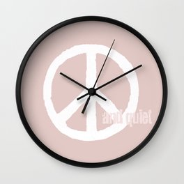 peace and quiet - blush Wall Clock