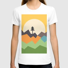 Sunset on the Mountains T-shirt