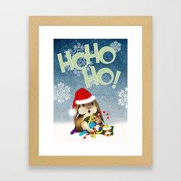 Currier & Bunnies: HO HO HO Framed Art Print