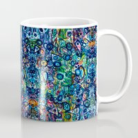 underwater Mugs featuring Underwater by Lily Mandaliou