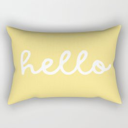 HELLO YELLOW Rectangular Pillow