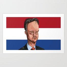 Louis Van Gaal World Cup 2014 Art Print
