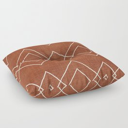 Nudo in Rust Floor Pillow