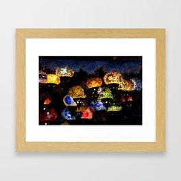 lanterns - night lights Framed Art Print