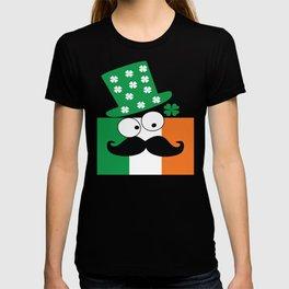 Irish mustache man st.Patty's day T-shirt
