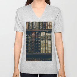 The Bookshelf (Color) Unisex V-Neck