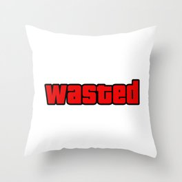 Wasted. Gta. Throw Pillow