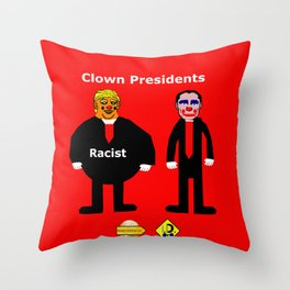 Clown Presidents Throw Pillow