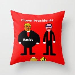 Clown Presidents Throw Pillow