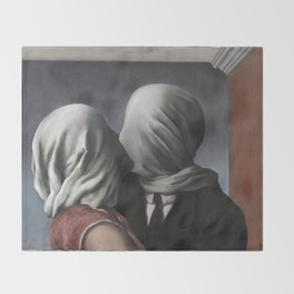 The Lovers II (Les Amants) 1928, Artwork Rene Magritte For Prints, Posters, Shirts, Bags Men Women K Throw Blanket