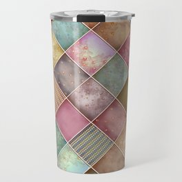 Diamond Shape Christmas Pattern 2 Travel Mug