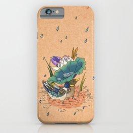Minhwa: 2 Ducks under a Lotus Leaf D Type (Korean traditional/folk art) iPhone Case