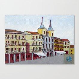 Postcard from Plaza Mayor, Segovia, Spain Canvas Print