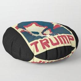 Donald Trump Retro Propaganda Floor Pillow
