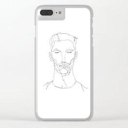 Single line portrait Clear iPhone Case