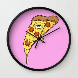 All Seeing Pizza Wall Clock