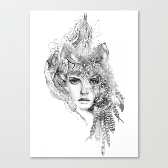 Wolf Girl Canvas Print