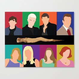 Buffy the vampire slayer characters Canvas Print