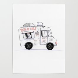 Zombie Food Truck Poster