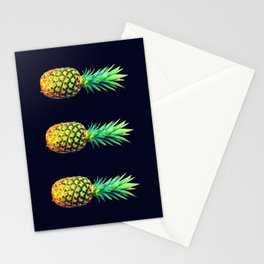 Night Knights Pineapples Stationery Cards