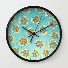 Indian Paintrush Wall Clock