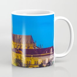 Prague Castle and St. Vitus Cathedral at Night Czech Republic Coffee Mug