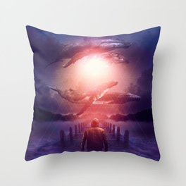 The Space Between Dreams & Reality Throw Pillow