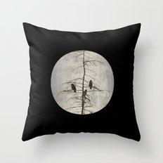 A Full Moon Night Throw Pillow