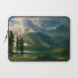 Scenery in the Grand Tetons by Albert Bierstadt Laptop Sleeve