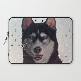 Siberia [ oil on mirror ] Husky dog portrait Laptop Sleeve