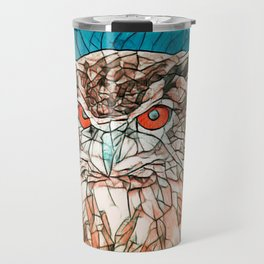 Owl Portrait Travel Mug