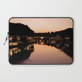 Tiber river at sunset Laptop Sleeve