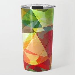 Mixed Color Poinsettias 2 Abstract Polygons 2 Travel Mug