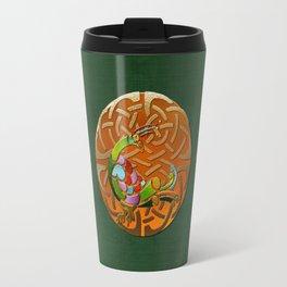 Peacock Celtic Deco Travel Mug