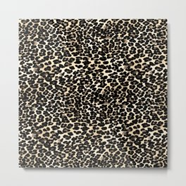 Small Brown and Black Leopard Print Metal Print