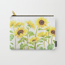 sunflowers watercolor horizontal  Carry-All Pouch