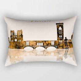 Florence Warm Color Skyline Rectangular Pillow