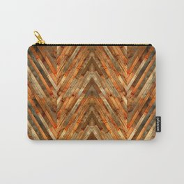 Wood Plank Texture Carry-All Pouch