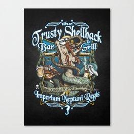 Trusty Shellback Bar & Grill Mermaid Canvas Print